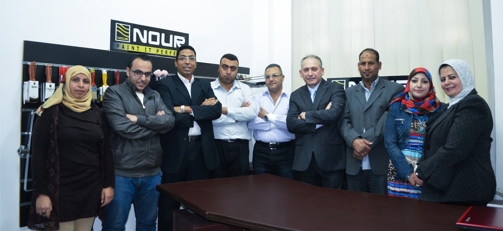 Nour Egypt team photo.